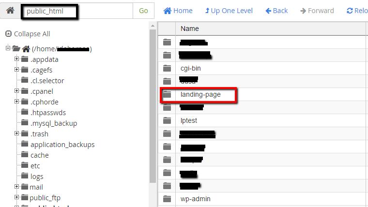 מבנה תיקיית public_html לאחר יצירת סאב דומיין